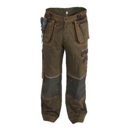 Kalhoty ORION TEODOR, do pasu, hnědo - černé